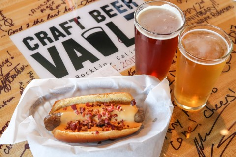 Beer Cheese Bacon Brat